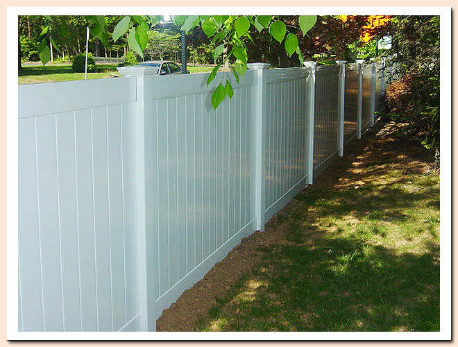 Pvc privacy fencing fencetastic
