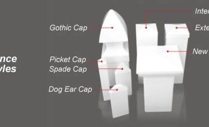 post caps styles